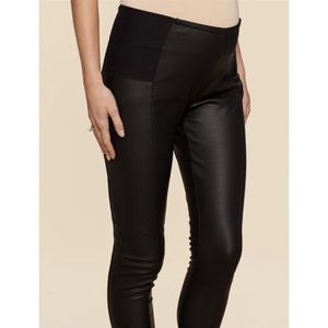 Maternity leather look leggings (faux leather)